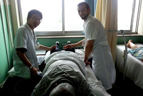 Tuina in het ziekenhuis in Qindao